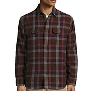 ST. JOHN'S BAY® LONG-SLEEVE QUILTED FLANNEL SHIRTJACKET
