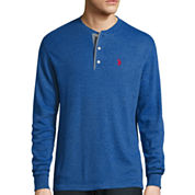 U.S. Polo Assn.® Long-Sleeve Thermal Henley Cotton Shirt