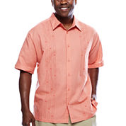Havanera™ Printed Panel Short Sleeve Shirt