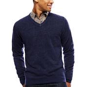 Argyle Culture Long-Sleeve V-Neck Sweater