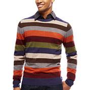 ARGYLECULTURE Long-Sleeve Striped Sweater