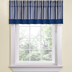 Waverly® Etienne Stripe Rod-Pocket Tailored Valance