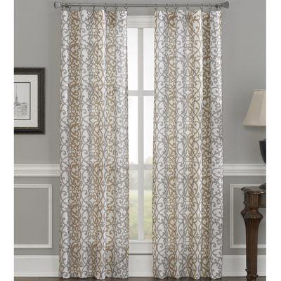 damask stripe rodpocket curtain panel