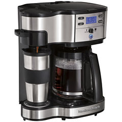 Hamilton Beach® Scoop Programmable 2-Way Coffee Maker