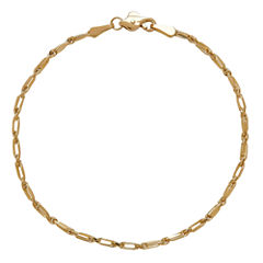 LIMITED QUANTITIES! 14K Yellow Gold Polished Solid Baguette 1.85mm Rope Bracelet