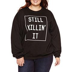 Long Sleeve Pullover Sweater-Juniors Plus