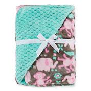 Okie Dokie® Textured Plush Safari Blanket