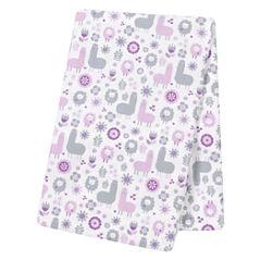 Trend Lab  Llama Friends Flannel Swaddle Blanket
