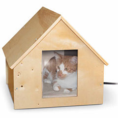 K & H Manufacturing Birchwood Manor Heated Thermo-Kitty House Wood 18