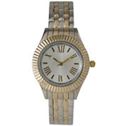 Olivia Pratt Womens Two Tone Bangle Watch-26413twotone