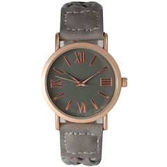 Olivia Pratt Womens Gray Strap Watch-14654greyrose