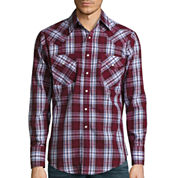 Ely Cattleman Long Sleeve Dobbby Snap Plaid Shirt