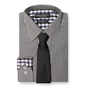 GRAHAM & CO. GINGHAM DRESS SHIRT AND TIE