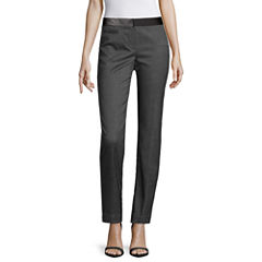 Worthington® Faux Leather-Trim Ankle Pants