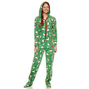 Hello Kitty Long Sleeve Footed Pajamas-Juniors