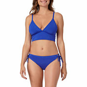 a.n.a® Solid Long-Line Bra Swim Top or Keyhole Hipster Swim Bottoms