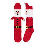 Santa Fuzzy Knee High Sock