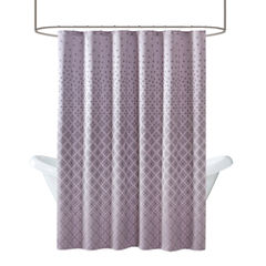 Madison Park Morris Jacquard Shower Curtain