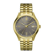 Caravelle New York® Mens Gold-Tone Stainless Steel Watch 44B111