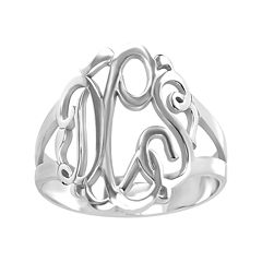 Personalized Sterling Silver Monogram Ring