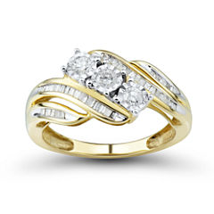 love lives forever 12 ct tw round white diamond 10k gold 3 - Jcpenney Jewelry Wedding Rings