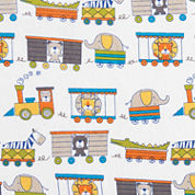 Trend Lab Circus Train Flannel  Crib Sheet