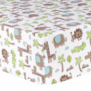 Trend Lab Sage Safari Flannel Crib Sheet