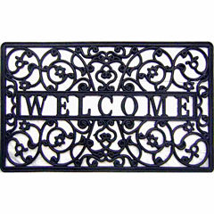 Welcome Cutout Rectangular Doormat - 18