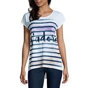 St. John's Bay Short Sleeve Scoop Neck T-Shirt