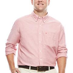 IZOD® Newport Long-Sleeve Cotton Oxford Shirt- Big & Tall