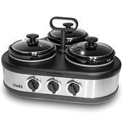 Cooks 3 x 1.0 QT Triple Dip Warmer