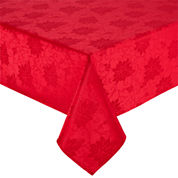 North Pole Trading Co Poinsettia Damask Tablecloth