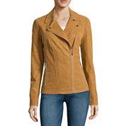 a.n.a® Short Moto Faux-Suede Jacket