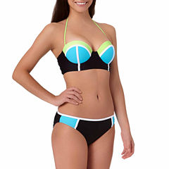 Arizona Colorblock Push-Up Midkini Swim Top or Colorblock Hipster Swim Bottoms