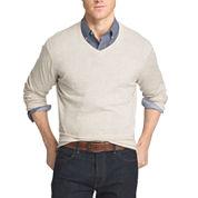 IZOD V Neck Long Sleeve Knit Pullover Sweater