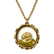 Messages from the Heart® by Sandra Magsamen® Peace Gold-Tone Pendant Necklace