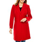 Liz Claiborne® Wool-Blend Walking Coat - Petite