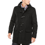 IZOD® Wool-Blend Toggle Coat with Hood