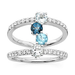 womens blue topaz sterling silver cocktail ring - Jcpenney Jewelry Wedding Rings