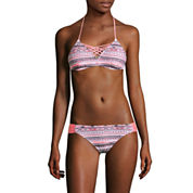 Arizona Mod Dream Coral Bralette Swim Top or Coral Hipster Swim Bottoms