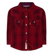 Levi's Boys Long Sleeve Button-Front Shirt