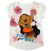 Disney By Okie Dokie Girls Moana Graphic T-Shirt-Toddler