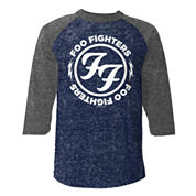 Foo Fighters Raglan 3/4 Sleeve Graphic T-Shirt