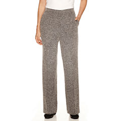Alfred Dunner Wrap It Up Pattern Flat Front Pant