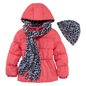 Pink Platinum Girls Heavyweight Puffer Jacket-Preschool