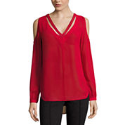 Nicole By Nicole Miller Cut Out Cold Sholder Top