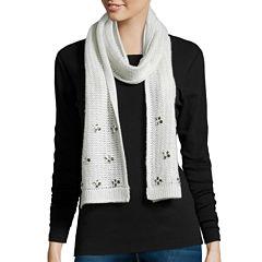 Mixit™ Reverse Jersey Embellished Oblong Knit Scarf