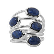 Five-Stone Lapis Ring