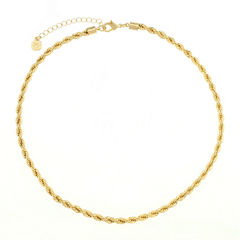 Monet Jewelry Womens Goldtone Twist Chain Collar Neckalce