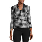 Black Label by Evan-Picone Houndstooth Suit Jacket